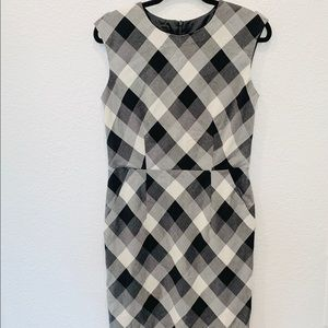 AB Studio Black and White Career Fitted Dress